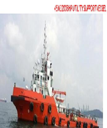 45Mtr - 3200 BHP UTILITY SUPPORT VESSEL FOR PROMPT SALE - BLT 2013 IN MALAYSIA