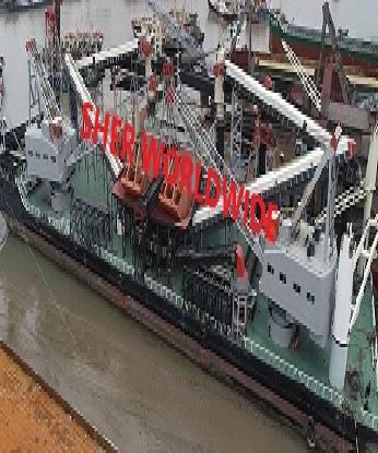 PONTOON CARGO CRANE BARGE FOR SALE - 111 MTRS NON PROPELLED - DIRECT SHIPYARD