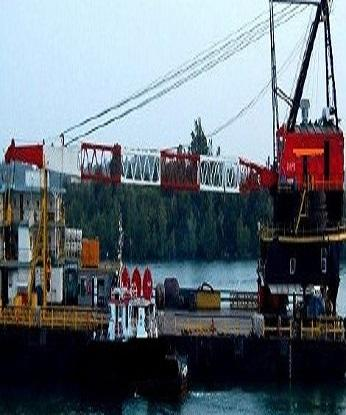 ACCOMMODATION CRANE BARGE C/W REVOLVING 250 TONS CRANE CAPACITY ON PROMPT SALE - DIRECT OWNER