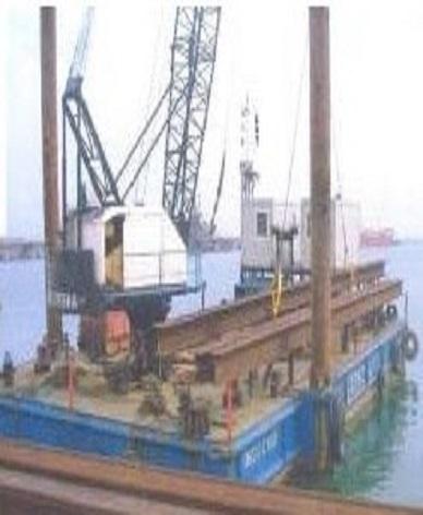 tug boat & floating crane on single or en bloc for sale